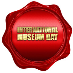 international museum day, 3D rendering, a red wax seal