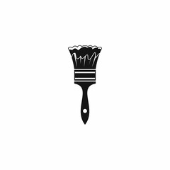 Paint brush icon, simple style