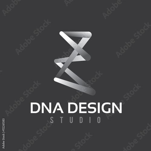 design dna logo creative studio logo vector logo template z letter logo