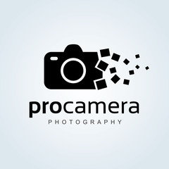Logo for Icons for Photographers,Photography logo. Camera logo template. Vector logo template.
