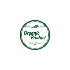 fresh eco friendly green theme label
