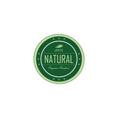 fresh eco friendly green theme label