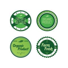 fresh eco friendly green theme label set