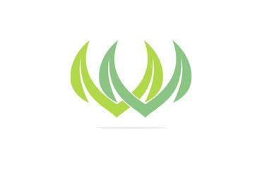 grass plant logo