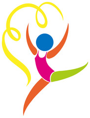 Logo design for gymnastics