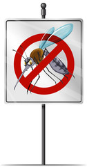 Sign for mosquito control