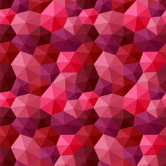 Mixed hexagons three dimensional shading multicolor red tones