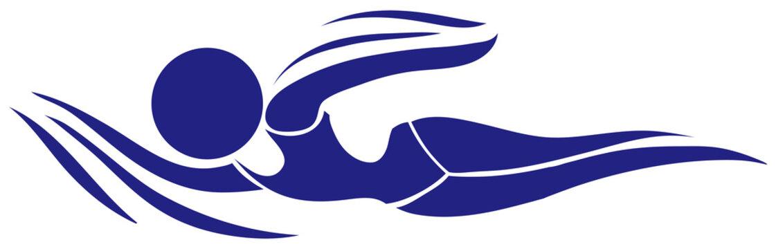 Sport icon design for swimming
