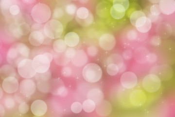 Abstract illustration bokeh light on pink background