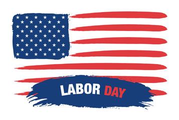 Labor day - USA Flag