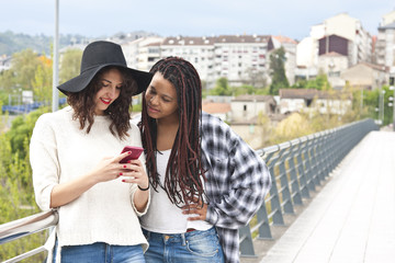 women with mobile phone