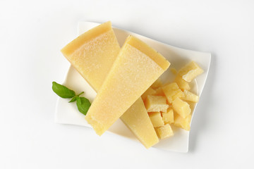 pieces of parmesan cheese