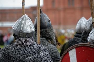 Chainmail warrior knights
