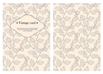 Cover design for you personal cover. Vintage Busines