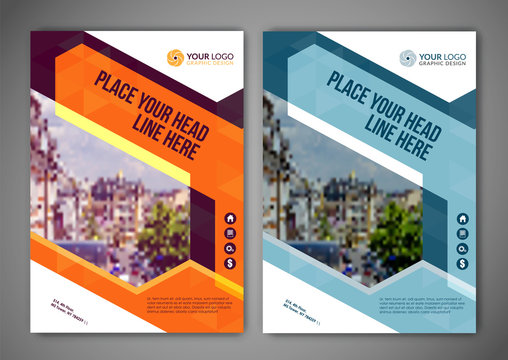 Business brochure flyer design layout template vector in A5 size.