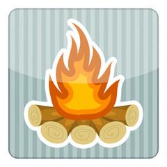 Bonfire colorful icon