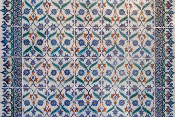 Iznik tiles background, Turkey