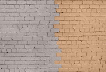 Grey-Beige Brick Wall