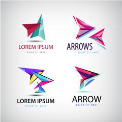 Vector abstract web logo, arrow set