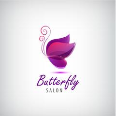 Vector butterfly logo. Spa salon