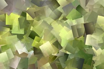 Hellgrünes Mosaik aus Quadraten und Rechtecken
