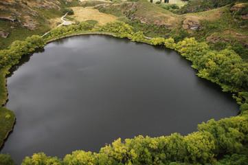 View from Diamond Lake viewing platform, New Zealand