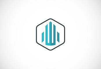 shape building icon vector logo