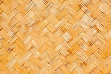 panneau de bambou tressé