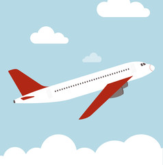 Flugzeug fliegen Vektor