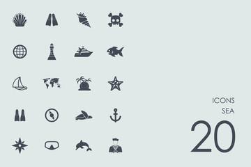 Set of sea icons