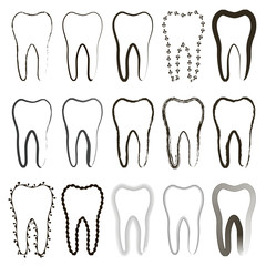 set of tooth icons