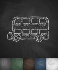 bus icon. Hand drawn vector illustration