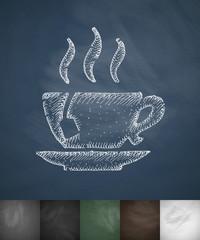tea icon. Hand drawn vector illustration