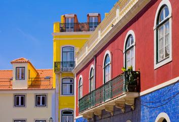 Lisbonne, maisons du quartier du bairro alto