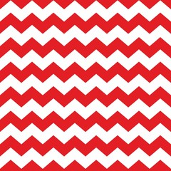 Zig zag chevron red and white tile vector pattern
