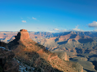 Grand Canyon landscape with scenic peak