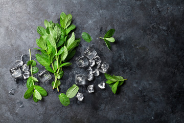 Mint and ice