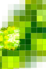 Green squares, background