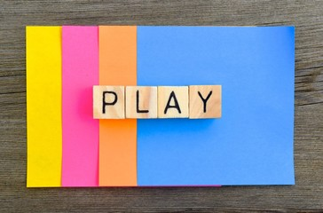 playing and having fun concept