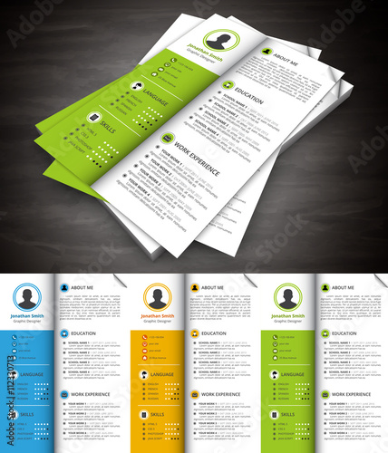 Editable infographic resume template
