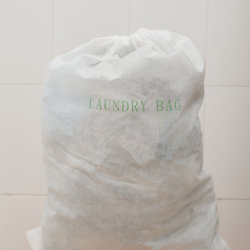 Laundry bag containing dirty washing