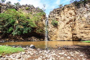Waterfall in Masai Mara in Kenya, Africa