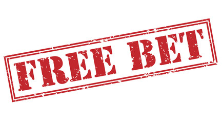 free bet red stamp on white background
