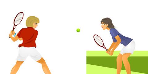 Two women tennis players