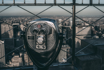 Binocular over New York city.