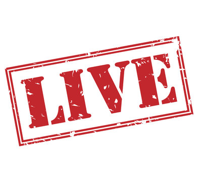 live red stamp on white background