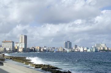Malecon - famous promenade in Havana, Cuba