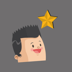 Winner design. Success concept. Flat illustration , vector