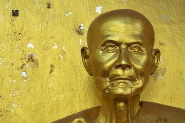 Buddha head in Asia Thailand.