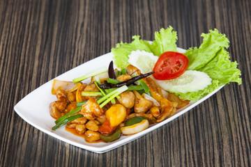 Thailand food menu.